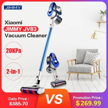 цена на JIMMY JV83 20KPa Handheld Vacuum Cleaner Wireless Aspirator Car Home Big Suction Digital Motor Dust Collector Household