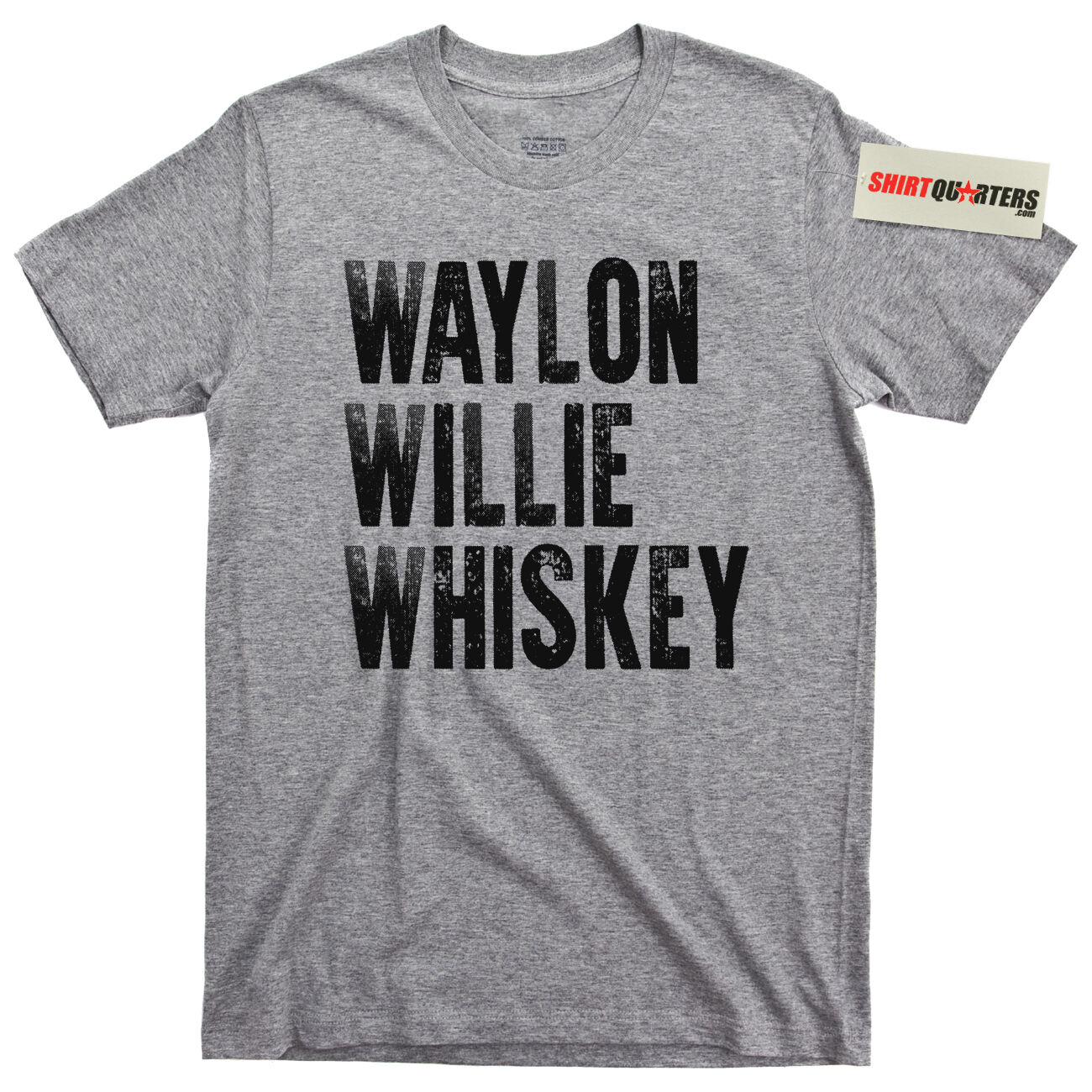 Waylon Jennings Willie Nelson Tennessee Whiskey Cowboy Outlaw Biker Tee T Shirt image