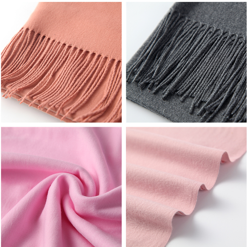 2020 winter scarf for women long warm cashmere scarves hijab solid lady shawl wrap female pashmina