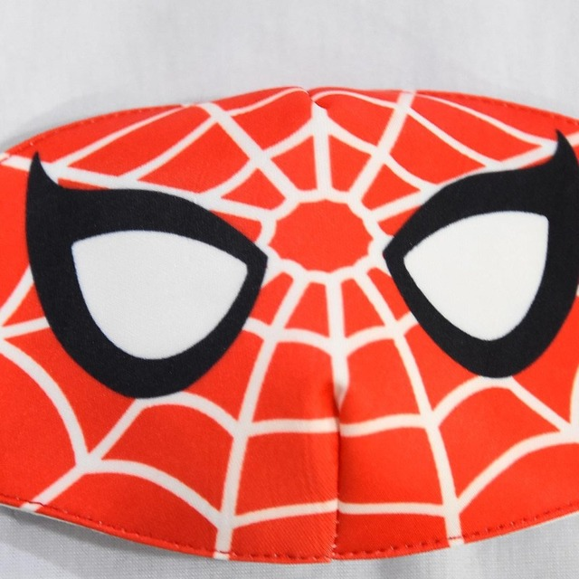 2020 Spiderman Stop Air Pollution Home Cartoon Lovely Cotton Masks Keep Warm Mouth Respirator Kids Adult 4