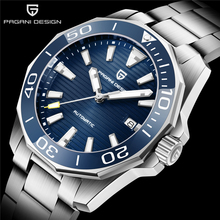 PAGANI DESIGN Men Automatic Watch Sapphire Luxury Mechanical Wristwatch Stainless Steel 100M Waterproof  Men Mekaniska klockor