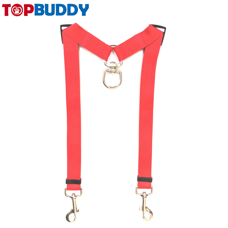 Pet Double Headed Traction Belt Two Traction Rope Double Dog Pet Traction Rope Zi Mu Dai