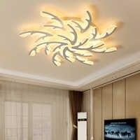Lámpara colgante de techo con asta blanca moderna para sala de estar, comedor y dormitorio, luminarias de iluminación interior