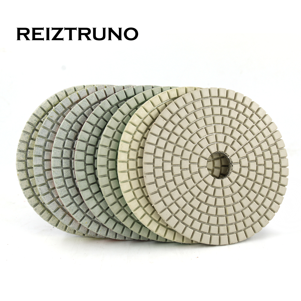 REIZTRUNO 1piece 100mm Diamond Polishing Pads 4 Inch Marble,Granite Polishing Natural Stone Polishing Discs -Long Life,Wet Use