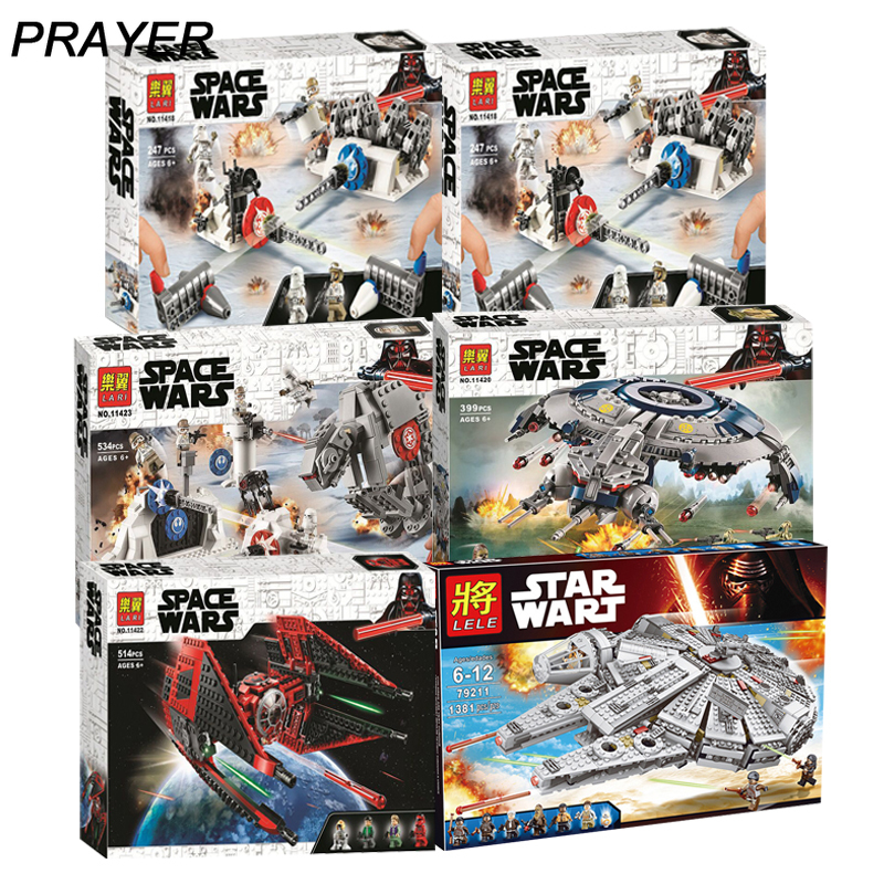 Star Wars 75233 75242 7524  Building Blocks Harmless Bricks Enlighten Fit Compatible Lepininglys Starwars Toys