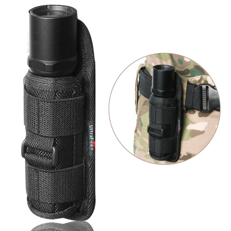 Tactical Rotatable Flashlight Pouch Portable Torch Holster Case Attached To Belt Torch Cover Hunting Lighting Accessories