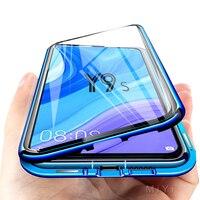 Funda magnética para Huawei Y9s, cristal templado de doble cara transparente, carcasa trasera a prueba de golpes para Huawei Y9s Y 9s