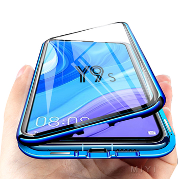 Magnetic Case For Huawei Y9s Case Clear Double-Sided Tempered Glass Hard Bumper Back Cover For Huawei Y9s Y 9s Shockproof Coque