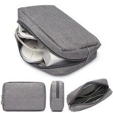 Дорожный Чехол-органайзер для хранения наушников, сумка для хранения, цифровая портативная сумка на молнии, аксессуары, зарядное устройство, кабель для передачи данных, USB сумка, TAOSCIL