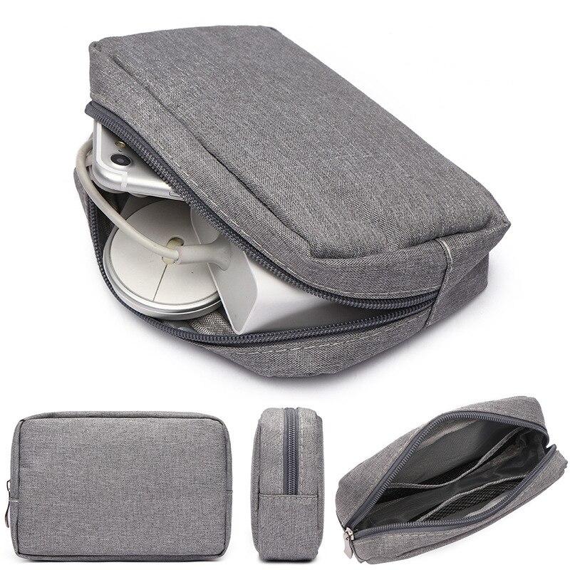 Organizador do armário de viagem caso para fones de ouvido saco de armazenamento digital zíper portátil acessórios carregador cabo dados usb saco taoscil