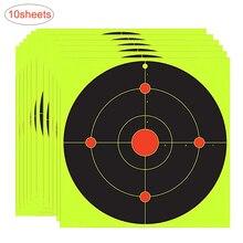 10 листов самоклеящаяся наклейка для стрельбы по мишеням бумажная наклейка для наружной стрельбы практика всплеск стрельба мишень наклейка
