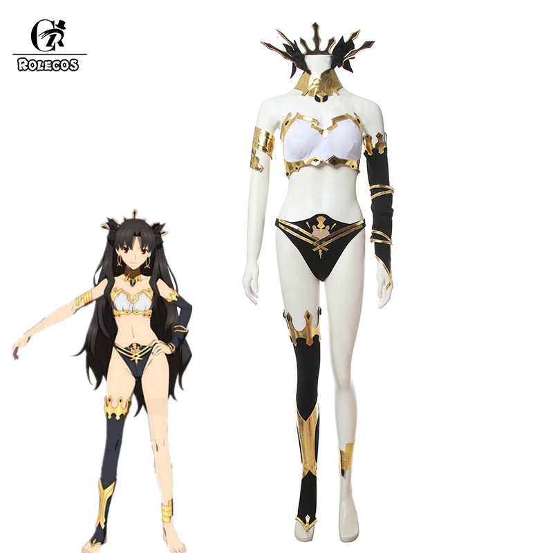 ROLECOS Fate Babylonia Ishtar Cosplay Costume Fate Grand Order Ishtar Cosplay Bikini Sexy Cosplay Costume Women FGO Swimsuit