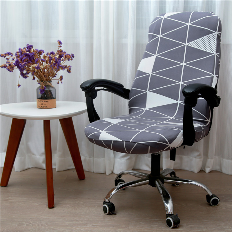 New Pattern Elastic Office Arm Chair Cover Quality S M L Spandex Executive Chair Cover 1pcs