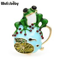 Wuli & baby – broche en émail pour femmes, unisexe, Animal, décontracté, bureau, cadeaux