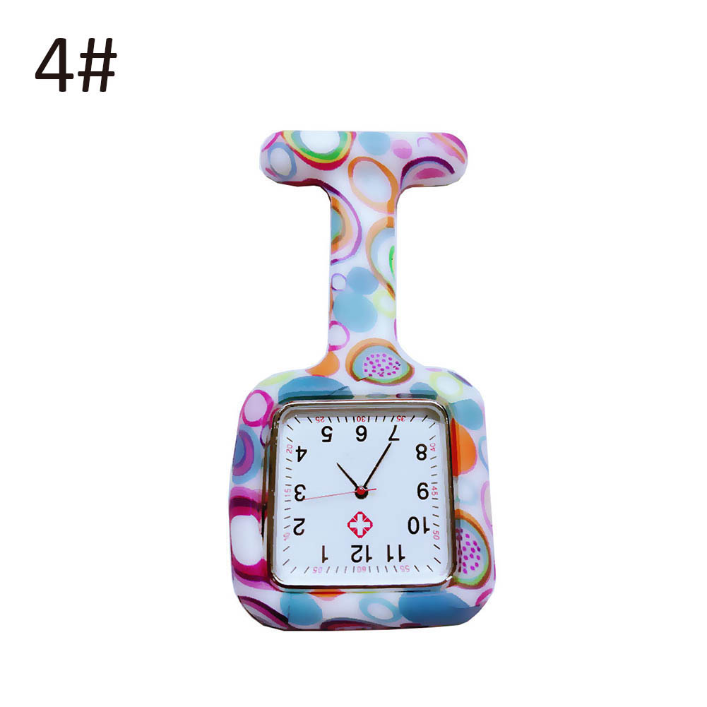 Nurse Silicone Watches Square Dial Quartz Nurse Watch Brooch Doctor Hanging Watches NIN668