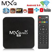 Pro 4k 2.4g/5ghz wifi android 9.0 quad core caixa de tv inteligente media player 2g + 16g google play youtub media player conjunto caixa superior