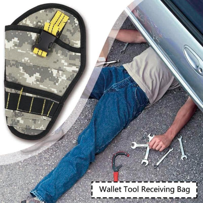 600D Polyester Camouflage Toolkit Storage Tool Bag Organizer Pouch Waist Pack  Suitable For Automobile Maintenance