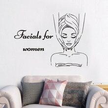 Vinyl Home Decor Women Spa Store Beauty Salon Wall Sticker Girls Decoration Poster Mural Decals W595