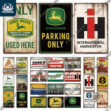 Putuo Decor Agricultural Machinery Metal Signs Vintage Tin Sign Decorative Plaque for Farmhouse Man Cave Garage Wall Decoration