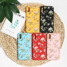 Lovebay Floral Phone Cases For iphone 7 Case Soft Flower Leaf Ultrathin Back Cover XS Max X XR 6 6S 8 Plus