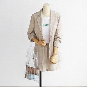 Image 2 -  2 Pieces Set Coat and Skirt Women Sets Plaid Skirt Suits Two piece Suit Casual Business Blazer Ladies Plus Size XL 5XL