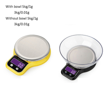 3kg/5kg 0.1/1g Multifunction LCD Digital Scale Electronic Kitchen Scale Weighing Balance Stainless Steel Scales for Bake Cooking