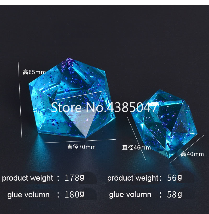 1PC Two Sizes Of Multi-faceted Vertebral Body Accessories UV Resin Epoxy Mold Dried Flower Jewelrymolds