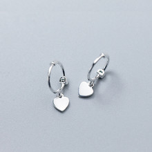 925 Sterling Silver New Loving Earrings Classic Temperament Lady's Loving Earrings Fashion Loving Mini Ear Button Accessories loving mother