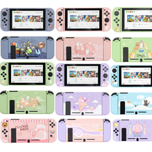 Kawaii Cute Cartoon Soft Shell Protective Case Cover & NS JoyCon Controller Cover & Tempered Glass For Nintendo Switch Console