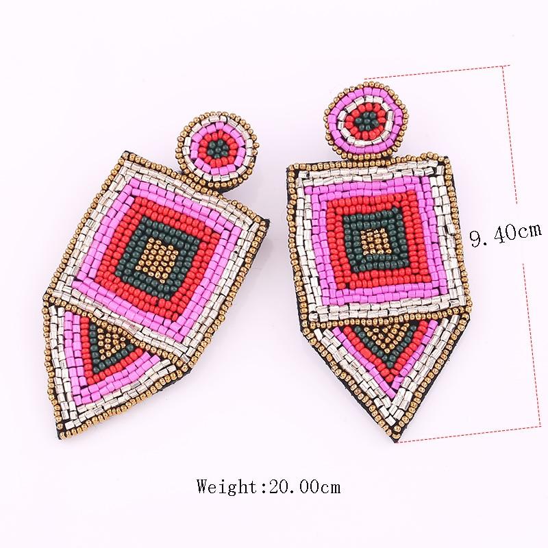 Bohemian Red Beads Tassel Earrings for Women Big Fringe Drop Earrings Long Dangle Earrings Wedding Jewelry Wholesale Size