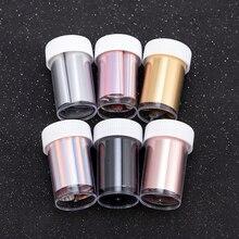 Lámina holográfica de oro rosa para uñas, pegatinas de transferencia para manicura de uñas artísticas