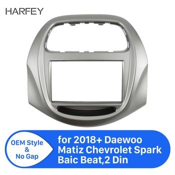 2Din Car Radio Fascia Frame in dash Installation Dashboard for 2018+ Daewoo Matiz Chevrolet Spark Baic Beat Refitting Car Pannel