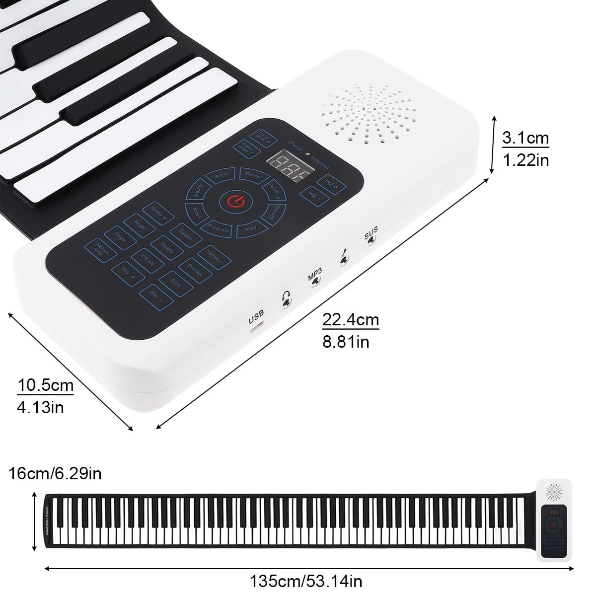 do piano silicone eletrônico órgão de teclado