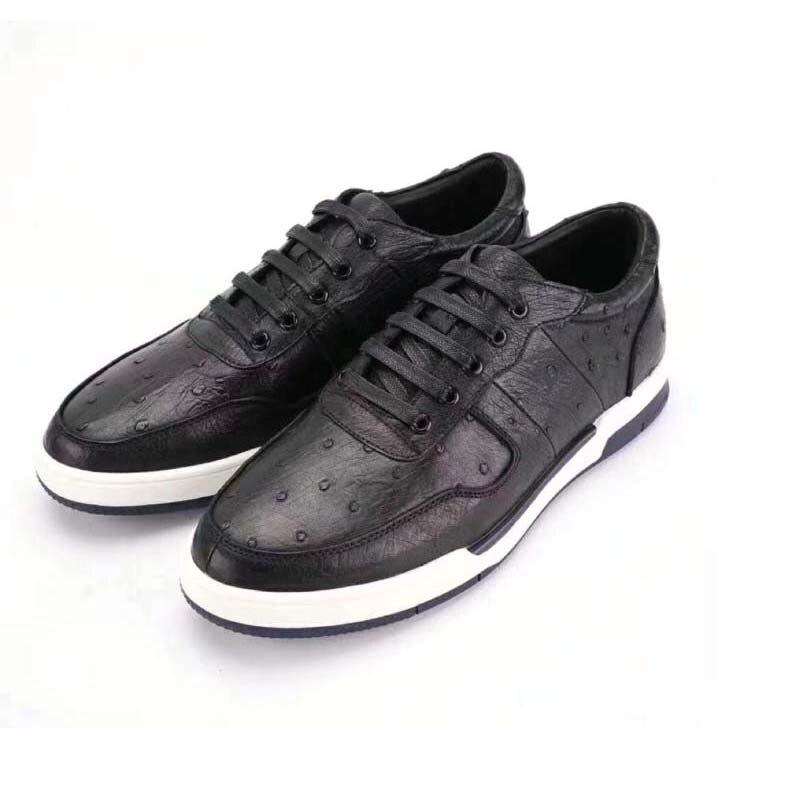 difutouzi Ostrich leather  male  Casual shoes men's shoes  Comfortable men shoes