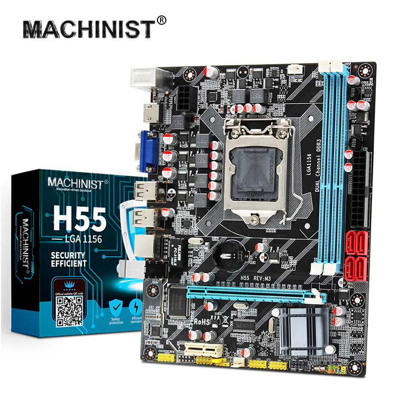 H55 Motherboard New LGA1156 DDR3 Supports Core 2/3 I3/i5/i7 CPU Motherboard PCI-Express USB Ports Mainboard Desktop For Computer