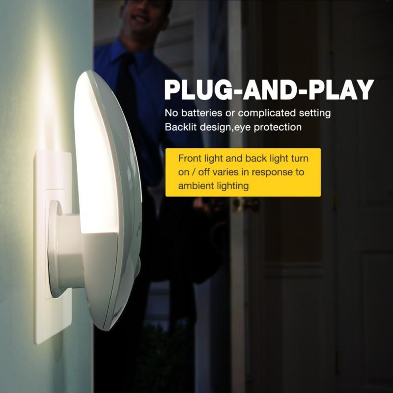 Original 110V 220V LED Night Light Infrared Remote Control Body Motion Sensor Smart Home Night Lamp Auto On/Off