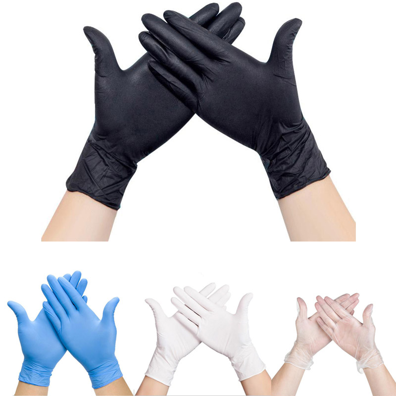 100 Pcs Disposable Anti-virus Medical Gloves Universal Cleaning Work Finger Gloves Protective Home Food For Safety  LS002