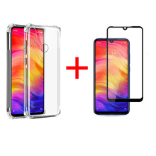 Clear Phone Case For Xiaomi Redmi Note 7 On Pro Cover Screen Protector Film