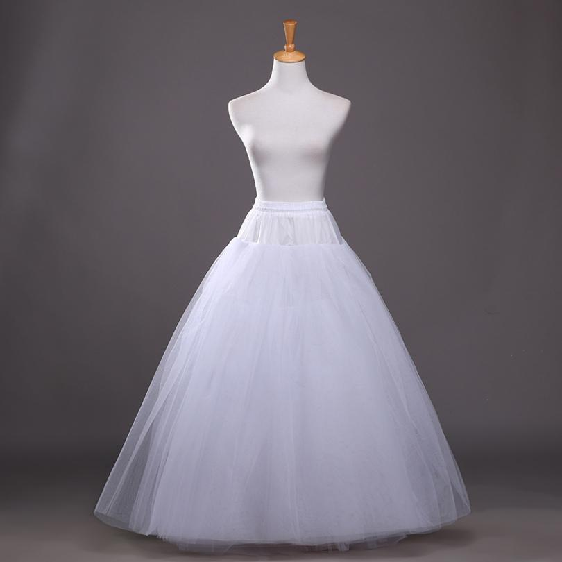 A Line Crinoline Petticoats Plus Size Sexy White Bridal Hoop Skirt High Quality Ruffle Floor Length Wedding Accessories