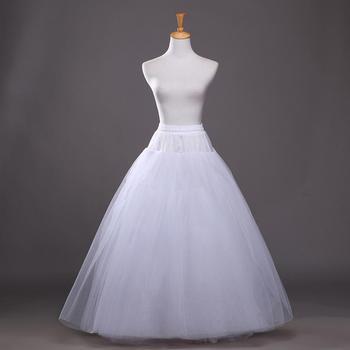 Una línea enaguas de crinolina de talla grande falda blanca atractiva del aro de la boda de la colmena de la alta calidad longitud del piso accesorios de la boda