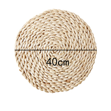 Corn fur woven Dining Table Mat Heat Insulation Pot Holder Round Coasters Coffee Drink Tea Cup Table Place mats Mug
