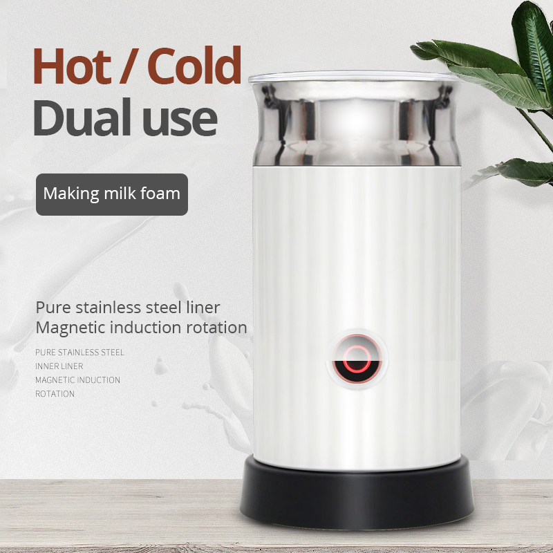 Automatic Milk Frother Electric Cappuccinator Hot /Cold Coffee Stainless Steel Frother Multifunction Milk Foamer Blowing Agent