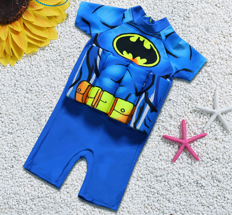 Children Detachable Buoyancy Floating Swimwear Zipper Back Training Bathing Suit Safe Learning Lesson Protective Float Swimsuit