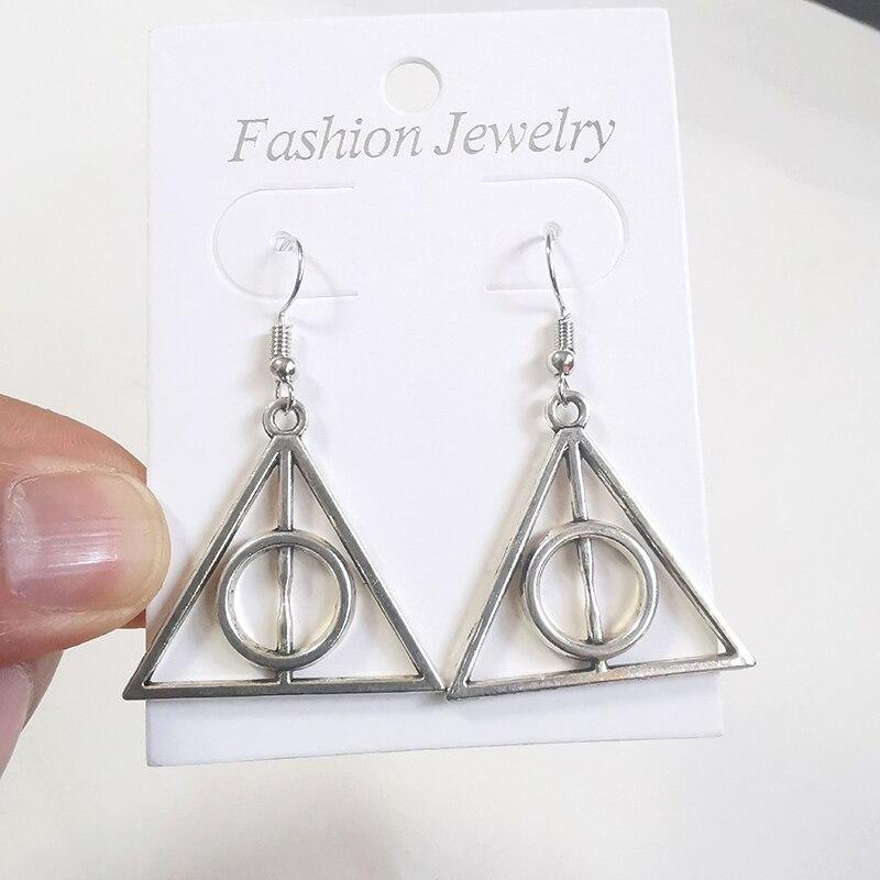 Vintage Silver Triangle Drop Dangle Earrings Women Gift Earring Fashion Jewelry Goth Punk Kolczyki Brincos Aretes De Mujer NEW
