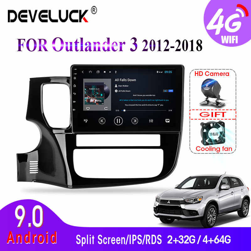 4G + 64G 2din Android 9.0 Radiofonico Auto Per Mitsubishi Outlander xl 3 2012-2018 di Navigazione GPS subwoofer Multimedia Video Player RDS