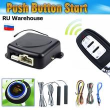Auto Pke Keyless Entry Systeem Een Start Stop Knop Alarmsysteem Met Afstandsbediening Voor 12V Auto Keyless Start accessoires