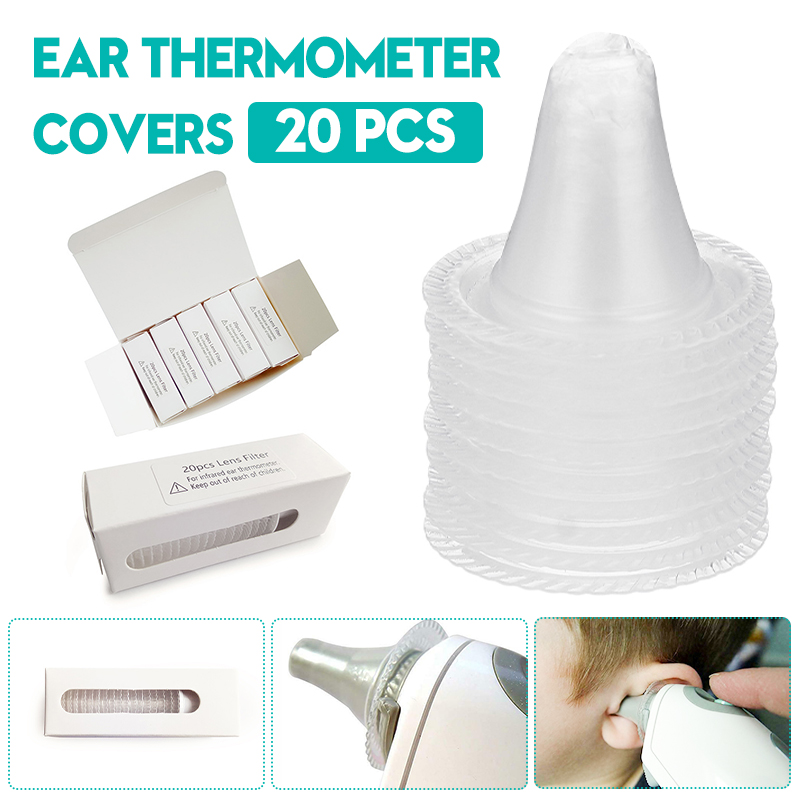 20pcs/set Infrared Ear Thermometer For Braun Thermoscan Using Replacement Lens Filters Probe Cover Baby Thermometers Covers