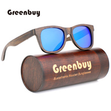 Classic fashion polarized sunglasses mens luxury brand designer simple environmental protection bamboo UV400