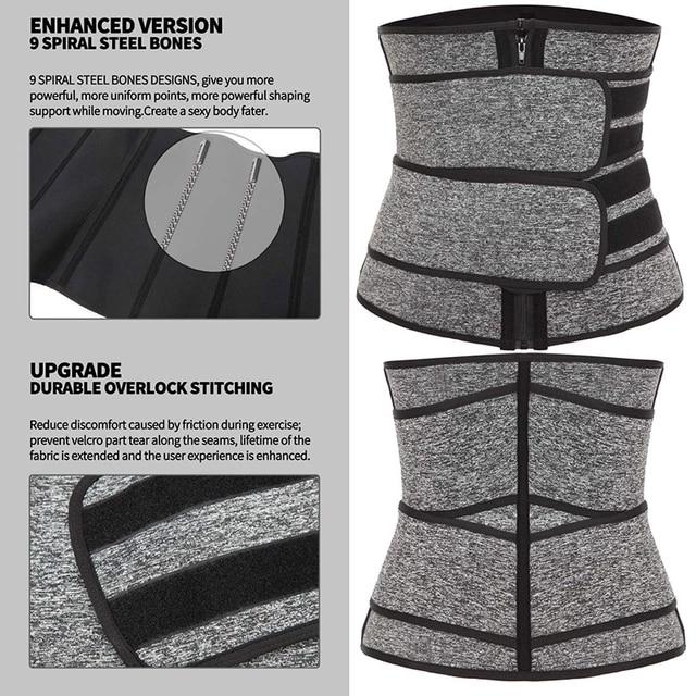 HOT Neoprene Sweat Waist Trainer Corset Trimmer Belt for Women Weight Loss Waist Cincher Shaper Slimmer Fajas Corset 2