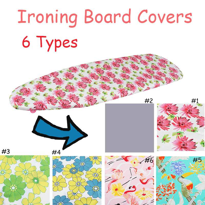 Fabric Flower Printed Ironing Board Heat Resistant Cover Polyester Felt Padded Cover 140*50cm Ironing Board Cover  Easy Fitted